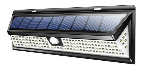 Reflector Led Solar Sensor Movimiento 118 Led Resistente