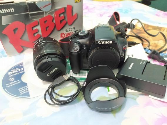 Câmera Digital Dslr Canon T3 Lentes 18-55 + Para Sol.