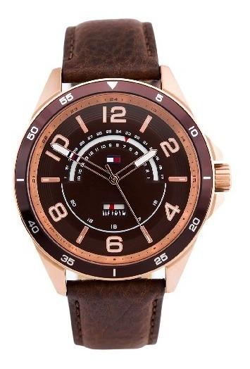 Relógio Tommy Hilfiger Masculino Couro Marrom - 1791392