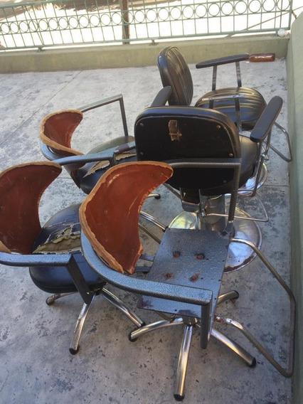 Sillas De Barbería Para Restaurar, Con Sistema Hidráulico.
