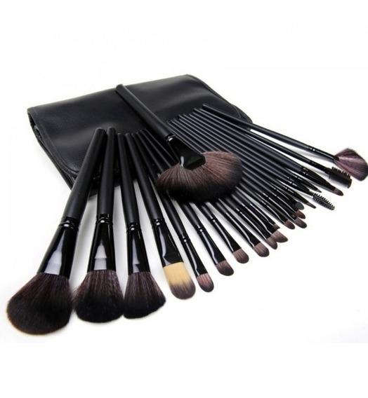 Kit De Pincel Para Maquiagem Com 24 Pcs Preto