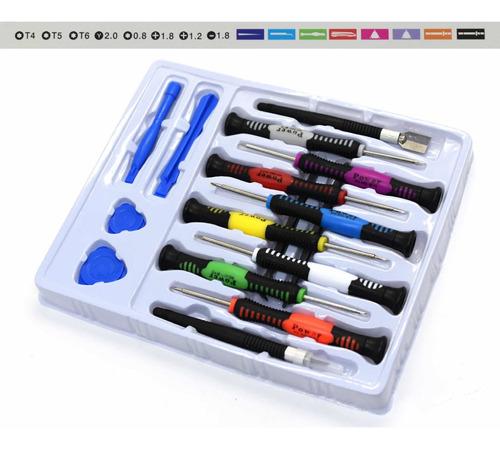 Imagem 1 de 4 de Kit Chaves De Precisão Com 16 Peças Para Conserto De Celular