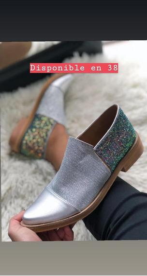 Zapatos Cerrados Multicolor Con Glitter