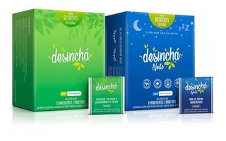 Kit Desinchá Chá 60 Sachês + Desinchá Noite 60 Sachês