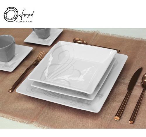 Imagem 1 de 8 de Aparelho Jogo De Jantar Chá E Café 42 Peças Oxford Tattoo