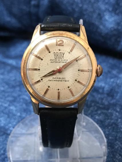 Relógio Ouro 18 Plaquê Nivel Omega Britix Parceira Breatling