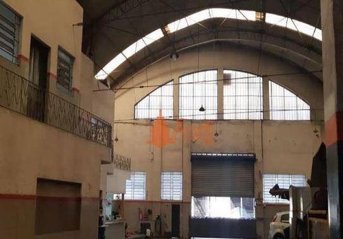 Galpão 800m², Ao Lado Do Metrô Brás E Av. Radial Leste São Paulo/sp - Ga0206