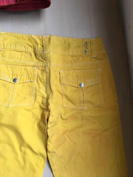 Vendo Pantalón De Dama Amarillo Bershka Usado