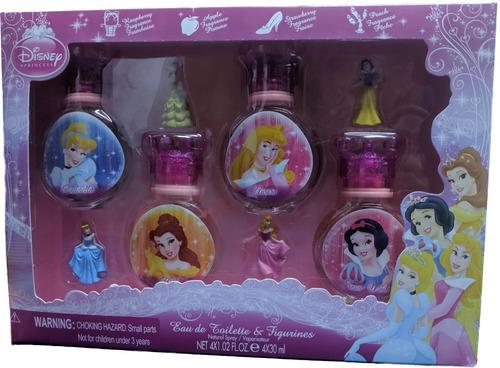 Colonia Perfume Princesas Niñas Disney 8 Piezas