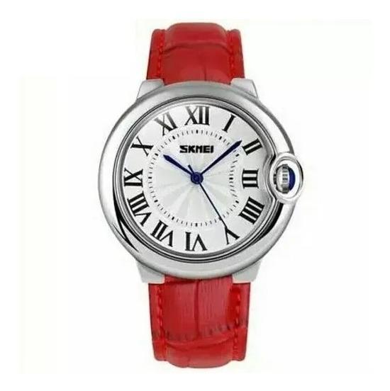 Relógio Feminino Skmei 9088 Luxo Original Pulseira D Couro