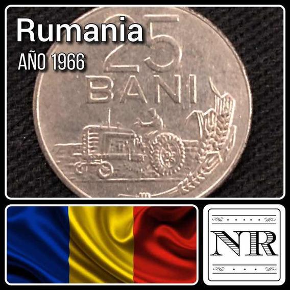Rumania - 25 Bani - Año 1966 - Km # 94 - Tractor