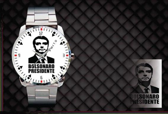 Relógio De Pulso Personalizado Bolsonaro Mito Presidente