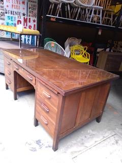 Mesa Escrivaninha De Madeira Antiga Miele