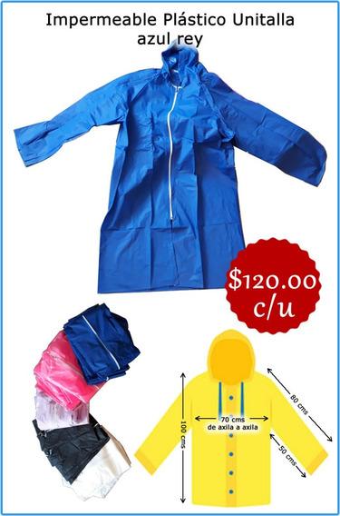 Impermeable Unitalla Color Azul Nuevo Pvc