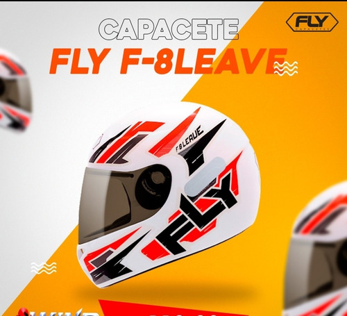 Imagem 1 de 1 de Capacete Fly F8 Leave