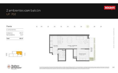 Venta Departamento En Palermo  De 2 Ambientes Con Balcón