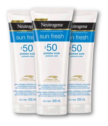 Kit 3 Protetores Solar Neutrogena Corpo Sunfresh Fps50 Promo