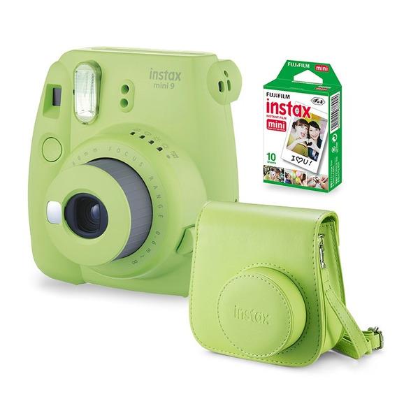 Câmera Instax Mini 9 Verde Limão + Case + Filme