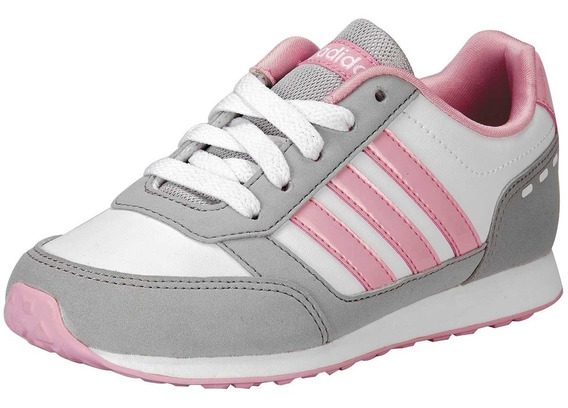Zapatillas adidas neo VS Switch 2 morado rosa blanco infantil