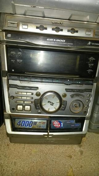 Micro System Sony Mhc-grx800 (com Defeito Pra Tirar Peças)