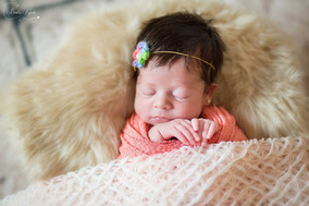 Newborn Wrap C/ Elastano P/ Fotografia Newborn Várias Cores