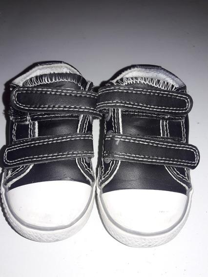 Unicas!! Zapatillas Mimo T 19 Negras Abrojo. S/cuero.