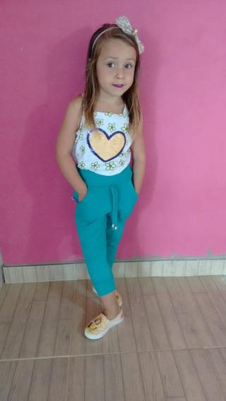 Calça Ribana Infantil - Calça Feminina - Kit Com/5