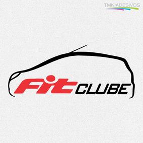 Kit 2x Adesivo Clube Honda Fit Carro Personalizado 15cm A197