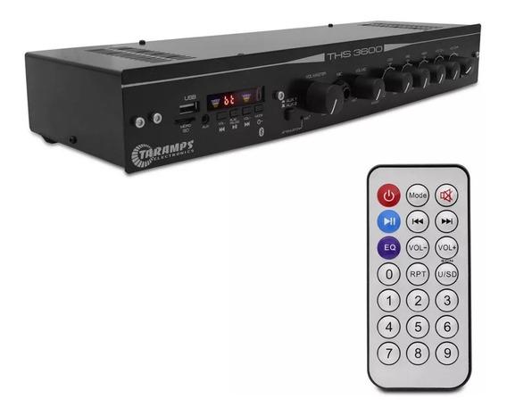 Amplificador Receiver Residencial Taramps Ths 3600 120w Rms