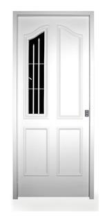 Puerta Frente Patio Inyectada Con Vidrio