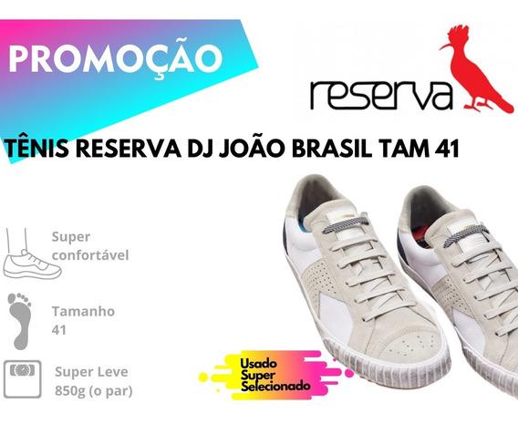 Tênis Reserva Dj João Brasil Branco Tam 41