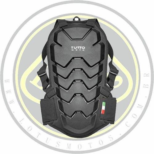 Imagem 1 de 3 de Protetor De Coluna Motociclista Tutto Combat Preto Com Nota