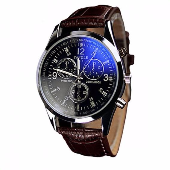 Relógio Importado Masculino Yazole 271 Fundo Azul Barato