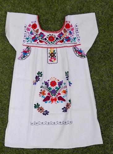 Imagem 1 de 1 de Vestido Mexicano Infantil T 6 Bordado A Mão Original - Varal