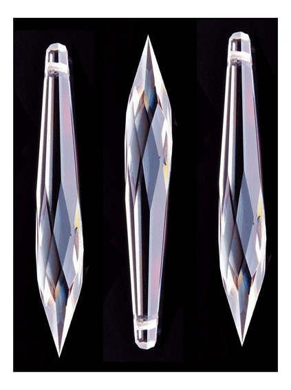 Kit 30 Pingentes Pirulito 32 Facetas Cristal Legítimo 76mm