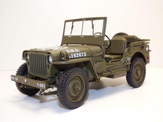 Jeep Willys 1/18 Us Army Ww2.nuevo Y Único