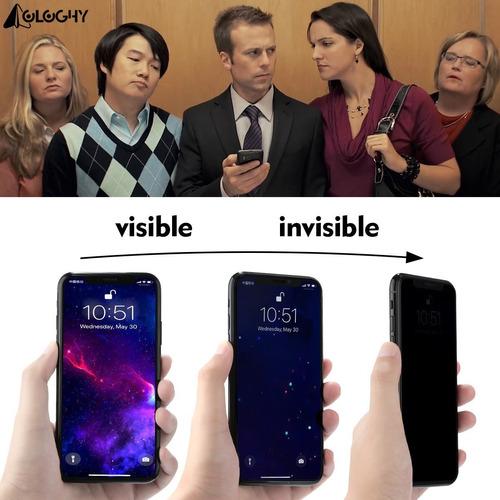 Vidrio Templado Antiespia iPhone 7/8 Plus 9d Curvo Negro