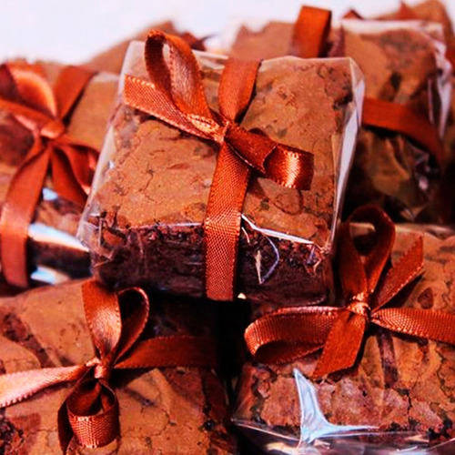 1000 Celofane Bopp 17x17 Transparente Brownie
