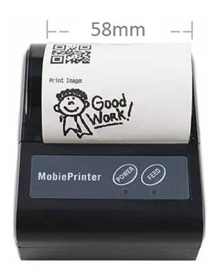 Mini Impressora Bluetooth Termica 58mm Cupom Pedido Apostas