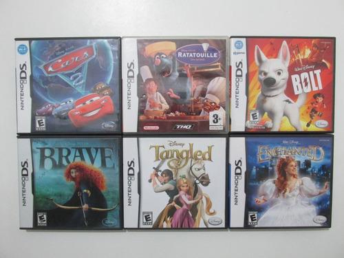 Lote X6 Juegos Disney Originales Para Nintendo Ds