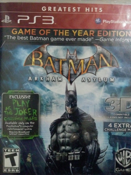 Batman Arkham Asylum Ps3 Original , A Pronta Entrega