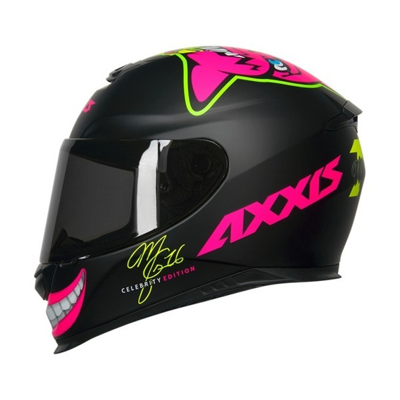 Capacete Axxis Celebrity Edition By Marianny Preto / Rosa 58