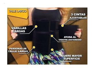 Faja Colombiana De 3 Velcros Cintura De Avispa