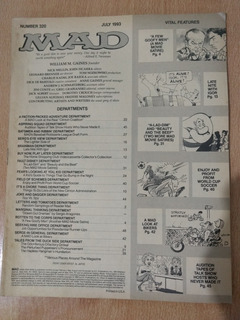Revista Mad En Ingles N 320 Julio 1993