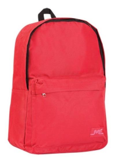 Mochila Escolar 15 Pulgadas Roja Rojo Bolsillo Exterior 3581