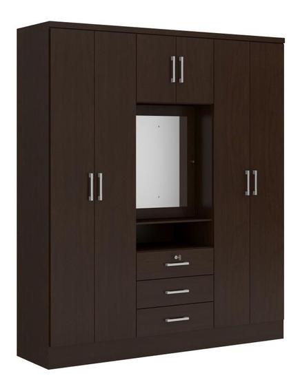 Ropero Closet Bertolini 588 7 Puertas 3 Cajones Chocolate