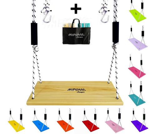 Hamacas Infantiles De Madera Modelo Tabla Tablita Colgante