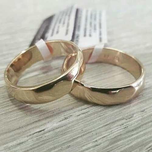 Aliança Rommanel Casamento Noivado 4mm Folhe 18k 511026 Par