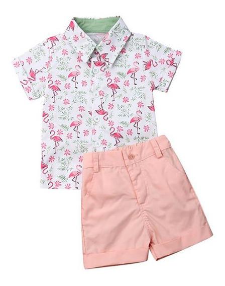 Camisa Short Para Niño Conjunto 2piezas Varios Modelos