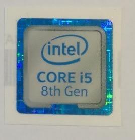 Adesivo Original Intel Core I5 8º Geração